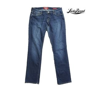 LUCKY BRAND LOLA STRAIGHT EMBRD BACK POCKET JEANS